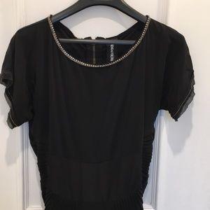 Zadig & Voltaire Deluxe Rev Silk Beaded Dress Sz M